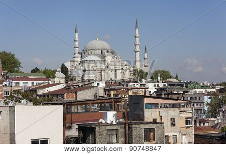 View of the Suleymaniye Mosque. Istanbul. Turkey.