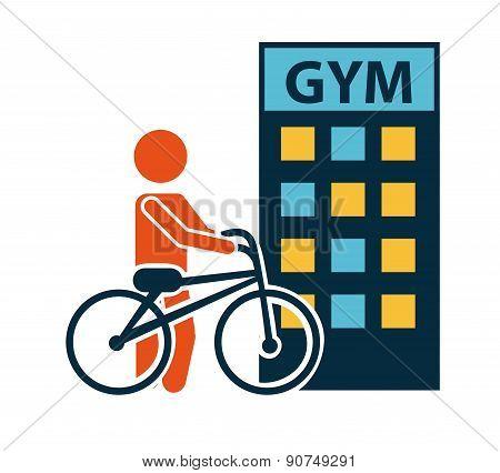 fitness design over white background vector illustration