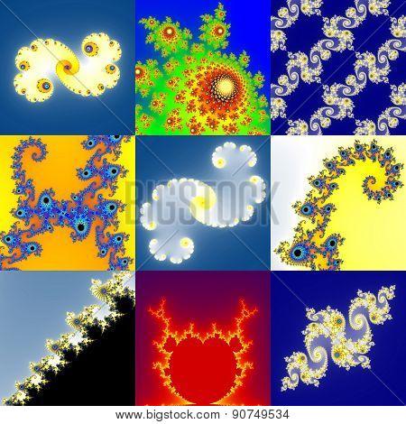 Set of Fractal Floral Pattern