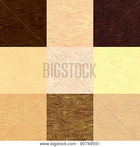 Set of Plywood Seamless Generated Texture