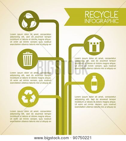 Recycle design over beige background vector illustration