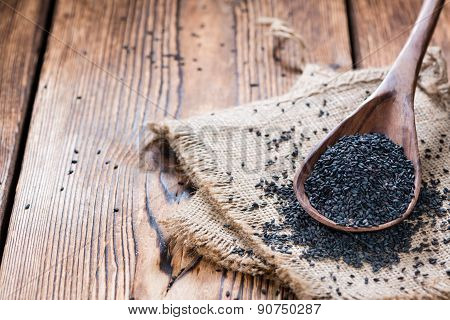 Portion Of Black Sesame