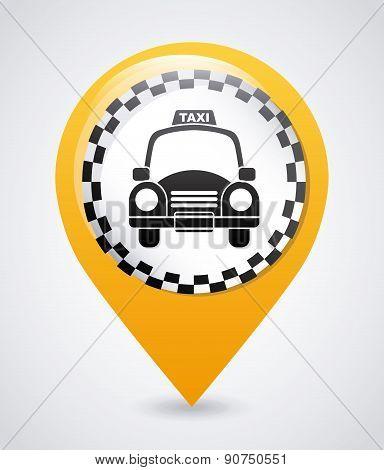 taxi design over gray backgroundvector illustration