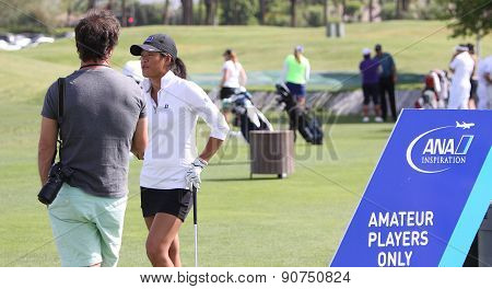 Celine Boutier At The Ana Inspiration Golf Tournament 2015