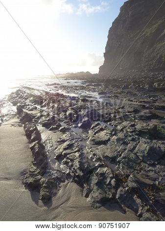Rocks And Cliffs Seascape