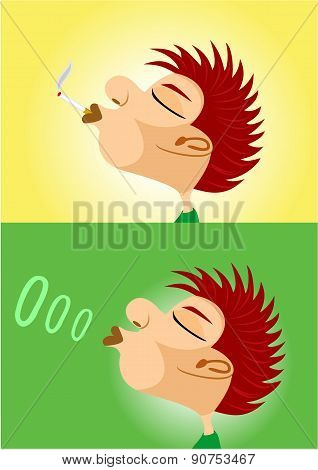 boy smoking cigarette