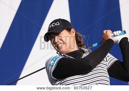Ariya Jutanugarn At The Ana Inspiration Golf Tournament 2015