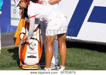 Mi Hyang Lee At The Ana Inspiration Golf Tournament 2015