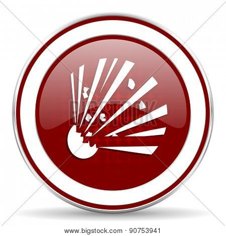 bomb red glossy web icon