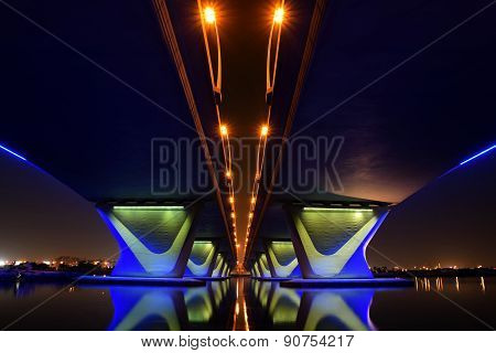 Gharhoud Bridge from base at night with long exposure