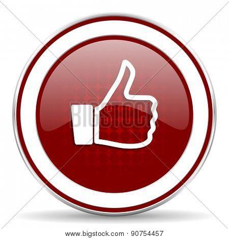 thumb red glossy web icon