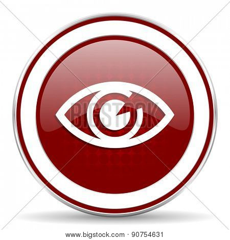 eye red glossy web icon