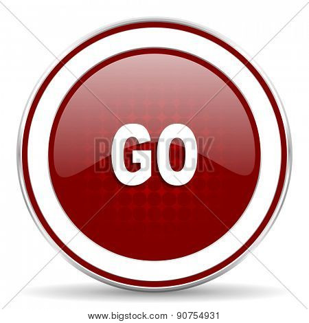 go red glossy web icon