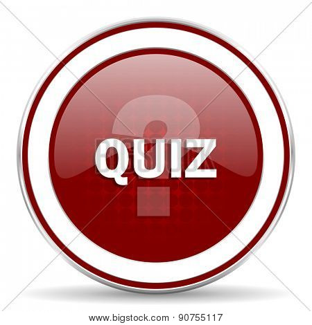 quiz red glossy web icon