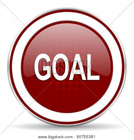 goal red glossy web icon