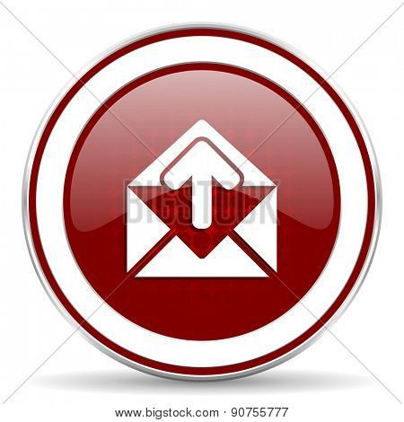 email red glossy web icon