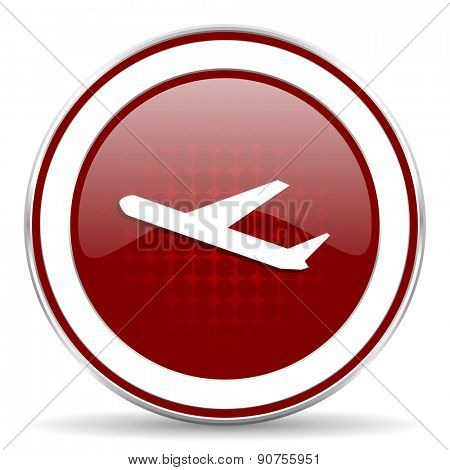 deparures red glossy web icon