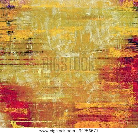 Abstract old background or faded grunge texture. With different color patterns: yellow (beige); brown; red (orange); pink