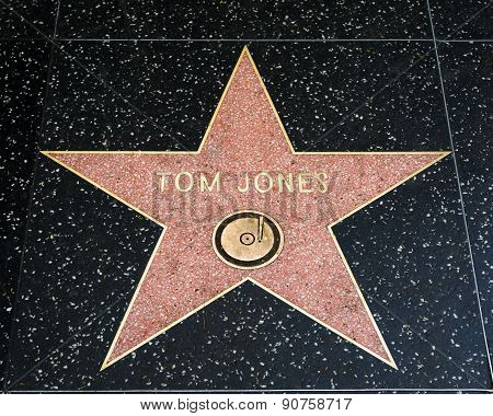 Tom Jones Star On The Hollywood Walk Of Fame