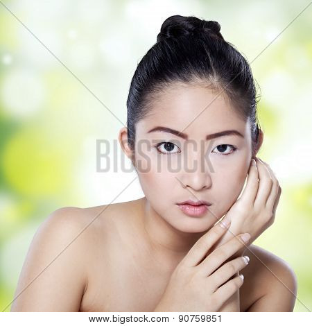 Closeup Of Pretty Chinese Woman