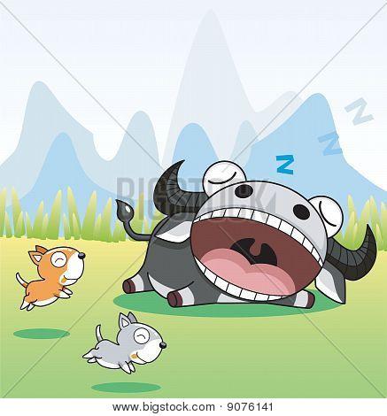 Sleeping Buffalo