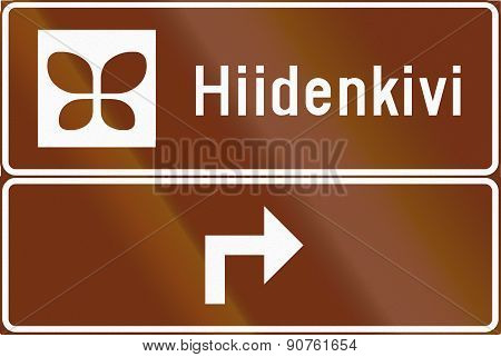 Advance Sign For Nature Site In Finland