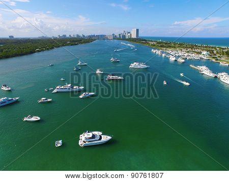 Aerial image Haulover Miami Beach