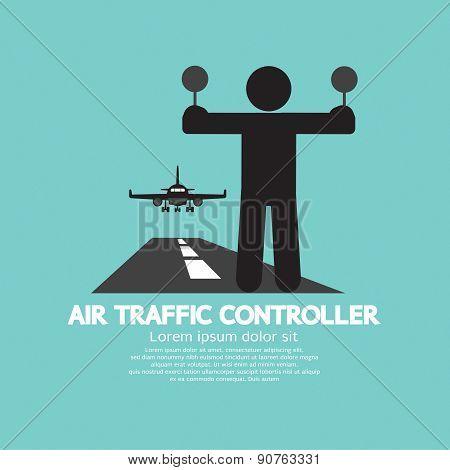 Air Traffic Controller Graphic Symbol.