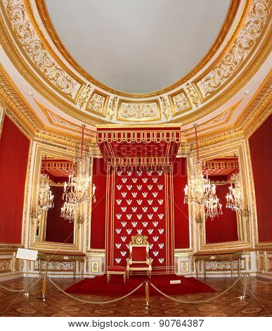 Polish king's throne in Warsaw Palace