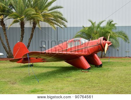 Old Red Airplane