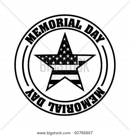 Memorial Day design over white background vector illustration