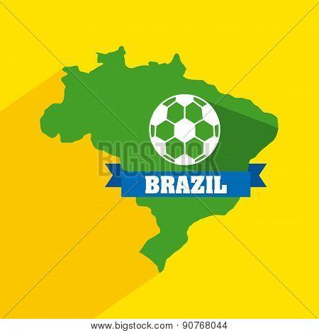 Brazil design over yellow background vector illustration