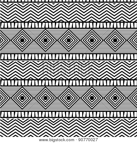 Ethnic design over  whitebackground vector illustration