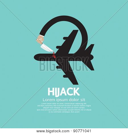 Plane Hijack Concept Abstract Design.