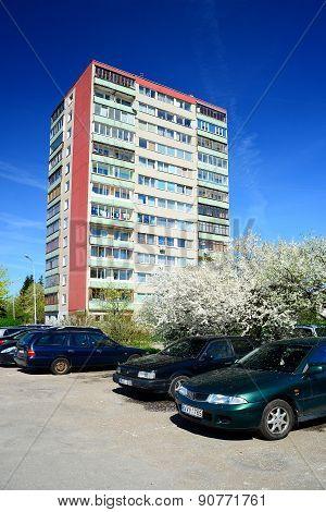 Spring In Vilnius City Karoliniskes Residential District