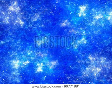 Vibrant Blue Abstract Fractal Background