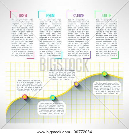 Vector graph infographic template. Chart and diagram presentation or web page elements