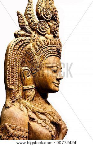 Cambodia Wood Carving Art