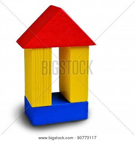 Wooden House On An Isolated Background