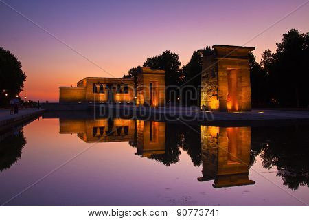 Templo de debod in Madrid, Spain.