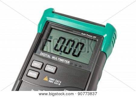 Isolated digital multimeter screen