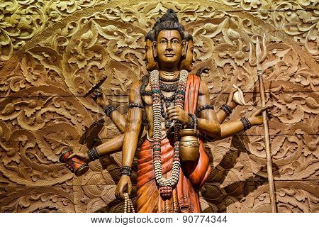 Shiva Carved Wood