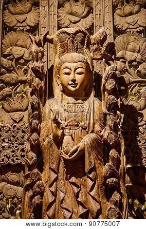Guan Yin Wood Carving