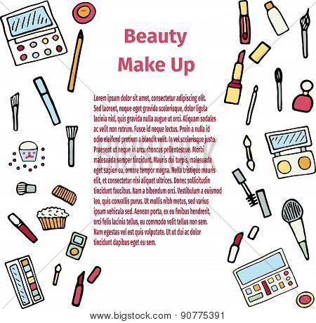 Hand drawn make up