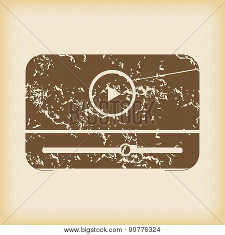 Grungy mediaplayer icon