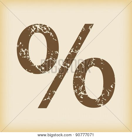 Grungy percent icon