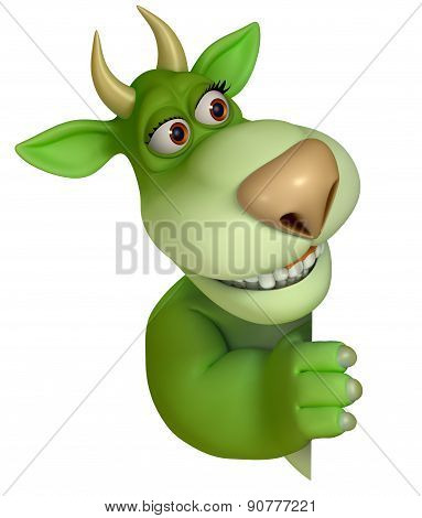 Green Cartoon Fantasy Monster 3 D
