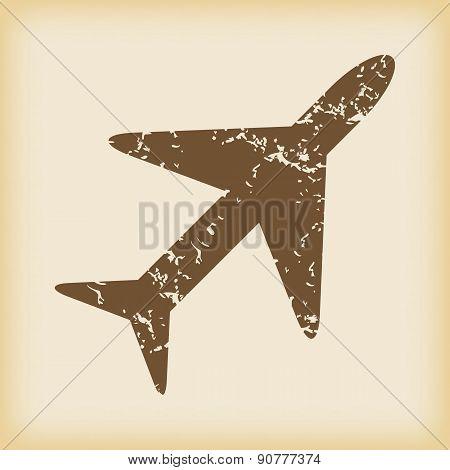 Grungy plane icon
