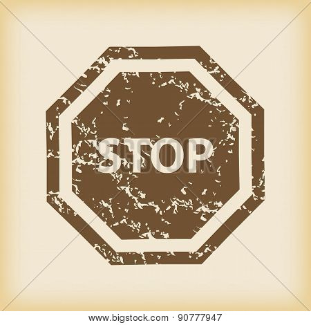 Grungy STOP icon