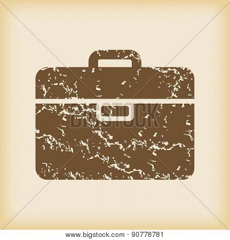 Grungy briefcase icon